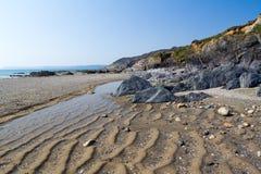 Playa Cornualles de Hemmick Fotos de archivo libres de regalías