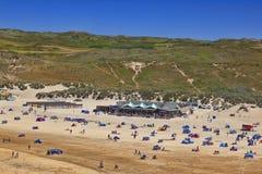 Playa Cornualles Reino Unido de Perranorth fotografía de archivo
