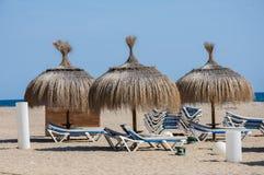 Playa Costa Daurada de Cambrils Fotos de archivo libres de regalías