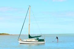 Playa costera Christchurch - Nueva Zelanda de Sumner Foto de archivo