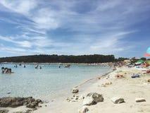 Playa Croacia de Sakarun Imágenes de archivo libres de regalías
