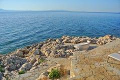 Playa croata Foto de archivo libre de regalías