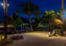 Playa Curaçao del mambo en la noche Foto de archivo libre de regalías