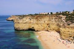 Playa DA Senhora DA Rocha de Algarve Foto de archivo libre de regalías