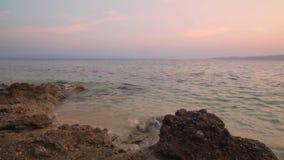 Playa Dalmacia, Croacia almacen de video