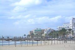 Playa de帕尔马能Pastilla 免版税库存照片
