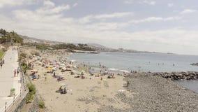 Playa de美洲日报鸟瞰图在特内里费岛,加那利群岛 图库摄影