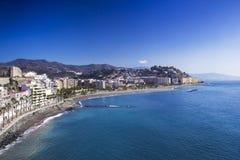 Playa De Ла Caletilla, Almunecar Стоковое Фото
