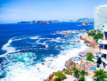 Playa de Acapulco imágenes de archivo libres de regalías