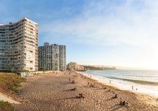 Playa de Acapulco - Vina del Mar, Chile imagenes de archivo
