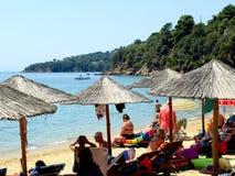 Playa de Achladia, Skiathos imagen de archivo libre de regalías