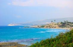 Playa de Achziv, Israel Imagenes de archivo