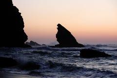 Playa de Adraga Imágenes de archivo libres de regalías