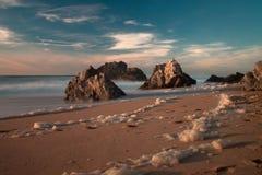 Playa de Adraga Imagenes de archivo