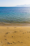 Playa de Agia Ana, isla de Naxos, Cícladas, egeas, Grecia Fotos de archivo libres de regalías
