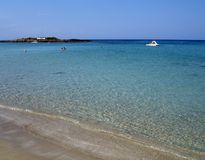 Playa de Agia Napa Fotos de archivo libres de regalías