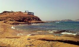 Playa de Agios George Fotografía de archivo libre de regalías
