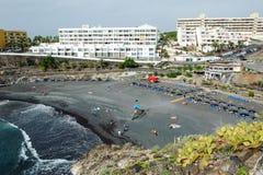 Playa de Ajabo small volcanic public beach Royalty Free Stock Photography