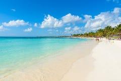 Playa de Akumal - playa de la bahía del paraíso en Quintana Roo, México - costa del Caribe Imágenes de archivo libres de regalías