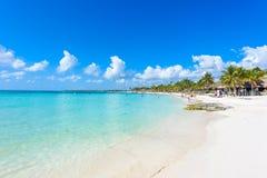 Playa de Akumal - playa de la bahía del paraíso en Quintana Roo, México - costa del Caribe Imagenes de archivo