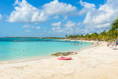 Playa de Akumal - playa de la bahía del paraíso en Quintana Roo, México - costa del Caribe Fotos de archivo libres de regalías