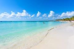 Playa de Akumal - playa de la bahía del paraíso en Quintana Roo, México - costa del Caribe Imagen de archivo libre de regalías
