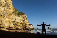 Playa de Algarve Foto de archivo libre de regalías