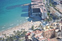 Playa de Alicante vista desde arriba Imagen de archivo