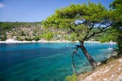 Playa de Aliki Fotos de archivo