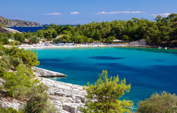 Playa de Aliki Imagen de archivo libre de regalías