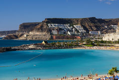 Playa de Amadores,波多黎各,大加那利岛 免版税库存照片