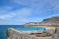 Playa de Amadores in Kanarischen Inseln Stockbild