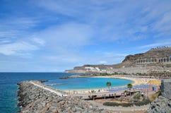 Playa de Amadores på kanariefågelöar Fotografering för Bildbyråer