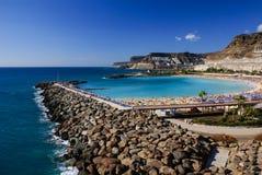 Playa DE Amadores, Puerto Rico, Gran Canaria stock afbeeldingen