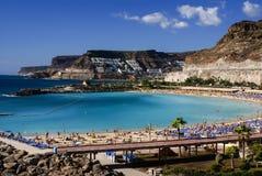 Playa de Amadores, Puerto Rico, Gran Canaria Stock Images