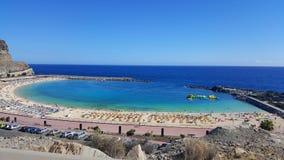 Playa DE Amadores strand dichtbij de stad van Puerto Rico royalty-vrije stock foto's