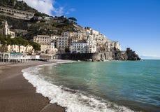 Playa de Amalfi fotos de archivo libres de regalías