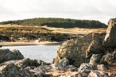 Playa de Anglesey Fotos de archivo libres de regalías