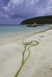 Playa de Anguila Foto de archivo