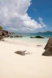 Playa de Anse Takamaka en Seychelles Fotografía de archivo