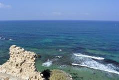 Playa de Apollonia cerca de Tel Aviv Fotos de archivo libres de regalías
