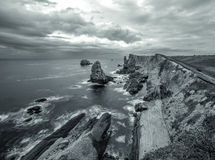 Playa de Arnia Stockfoto