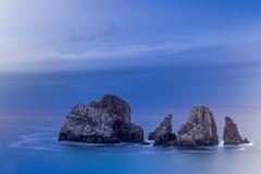 Playa de Arnia Lizenzfreies Stockfoto