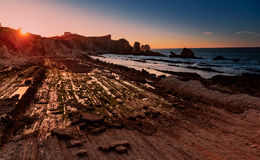 Playa de Arnia, playa mágica imágenes de archivo libres de regalías
