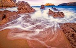 Playa de Arnia, playa mágica imagenes de archivo