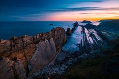 Playa de Arnia, playa mágica Santander españa fotografía de archivo libre de regalías