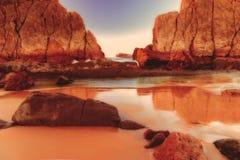 Playa de Arnia, playa mágica Santander españa imagenes de archivo