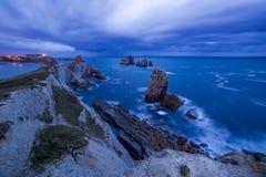 Playa de Arnia Royalty Free Stock Photos