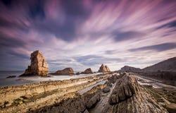 Playa de Arnia Royalty Free Stock Images