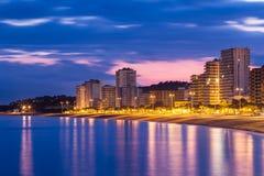 Playa de aro. Beach landscape, Costa Brava. Spain stock photo